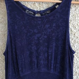 Free People blue lacy open back stretchy dress